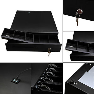 Heavy Duty cash Register Drawer Box With Money Tray Coin Drawer Push Button Usa