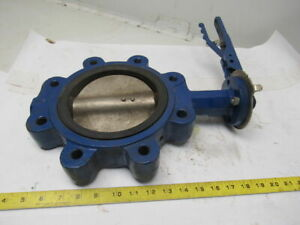 Sf Equipment Model Bfv 6 Lug Type Butterfly Valve W manual Hand Lever Actuated