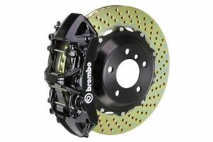 Brembo Gt Big Brake Kit Front 355mm 2 Pc Drilled 6 Piston Black A3 8p Gti 06 13