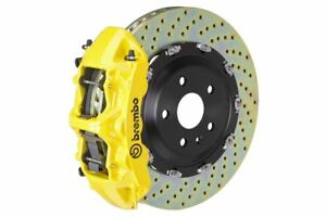 Brembo Gt Big Brake Kit Front 380mm 2 Pc Drilled 6 Piston Yellow Rs5 B8 2013