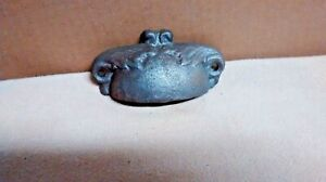 12 Crowned Drawer Pull Victorian Style Made Of Cast Iron Silver Gray In Color