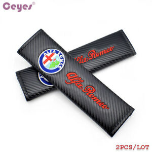 2x Car Styling Car Seat Belt Cover Case For Alfa Romeo Mito 147 156 159 166 Auto