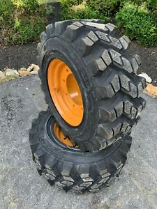 2 New 12 16 5 Tires wheels rim For 4x4 Case 580 Backhoe super M
