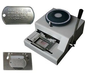 52 Characters Dog Tag Embosser Machine Dog Steel Card Embossing Stamping Machine