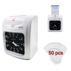 Electronic Time Recorder Attendance Machine Starter With 50 Cards 1ribbon 2keys