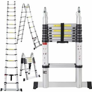 Telescoping Telescopic Extension Ladder 16 5ft Aluminum Tall Rv Camper Compact