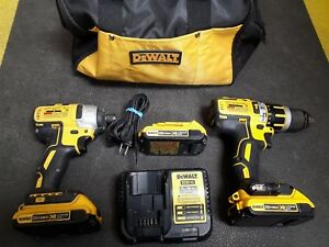 Dewalt Impact Hammerdrill Brushless Cordless With 3 Batteries Charger