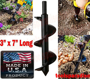 3 Diameter X 7 L Drill Powered Planting Bulb Auger Drill Bit Hole Digger Mixer