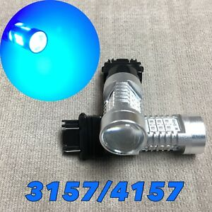 Front Turn Signal Parking Light Blue Canbus Led Bulb 3057 3157 4157 Srck W1 Fa