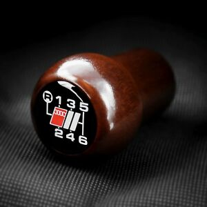 Audi S Sport Wood 6 Speed Shift Knob S2 Rs2 Avant A6 S6 C5 A4 S4 B5 A8 D2 B2 V8