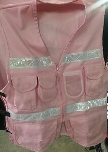 1605jls Safety Pink With Pockets Zipper One Size Fits All
