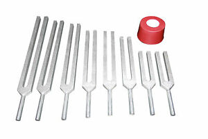 Chakra And Genesis Set Of 8 Healing Tuning Fork With Activator Pouch