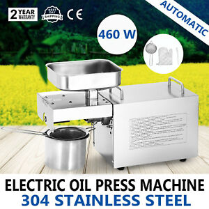 Stainless Oil Press Machine Automatic Expeller Extractor Peanut Nuts 304 Steel