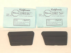 Standard M T Clutch And Brake Pedal Pads Pair Gm Camaro Chevelle Gto Etc