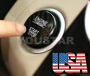 Us Stock Genuine Carbon Mercedes Keyless Go Engine Start Push Button Cover Black