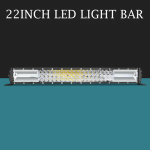 10d 22 Inch 2176w Five Row Led Light Bar Driving Offroad Spot Flood Suv 20 24