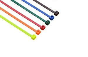 2000 Cable Ties 4 Multi Color 18lb Cable Zip Tie Down Strap Wire Nylon Wrap