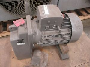 Nord Gear Motor Sk 4282azh66 160mh 4 Cus Ratio 5 1 15hp Used