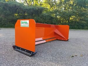 7 Kubota Orange Skid Steer Snow Pusher Box Free Shipping Skid Steer Bobcat Case