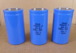 Lot Of 3 Sprague Powerlytic 36dy Capacitors