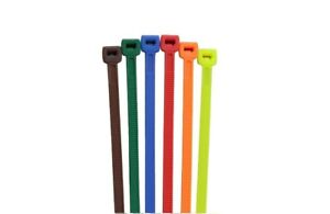 500 Cable Ties 8 Multi Color 75lb Cable Zip Tie Down Strap Wire Nylon Wrap