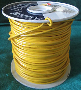 Coleman Cable 14 Mtw tew Copper Machine Tool Wire Yellow Partial Roll 900 950