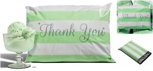 100 pack Mint Green Thank You Poly Mailers 10 x13 Envelopes Mail Bags