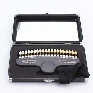 Dental Professional Teeth Whitening Shade Guide R20 With Aluminum Case