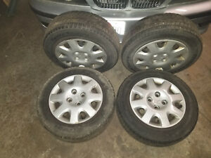 90 05 Honda Civic 4 Lug 14 Rims Tires Steel Wheels 185 65 14 Oem Factory
