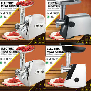 2800w Electric Meat Grinder Sausage Stuffer Maker Stainless Steel Cutter Home Us