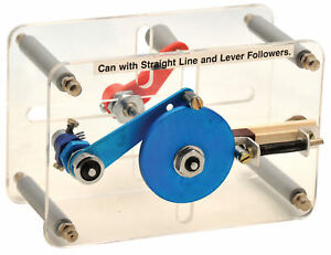 Mechanical Demostration Set Cam With Straight Line And Lever Followers