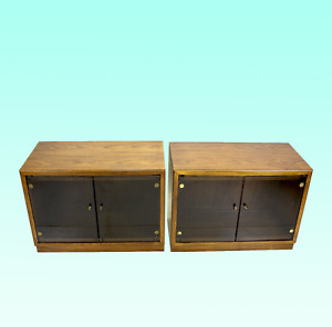 Mid Century Walnut Cabinets A Pair Mid Century Side Tables Walnut Nightstand