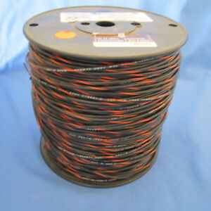 18 Gauge Mtw tew Stranded Copper Wire Black Orange Stripe Full Roll 1000ft