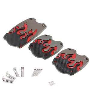 Car Brake Clutch Pedals Cover Foot Treadle Red Fit For Manual Transmission Car