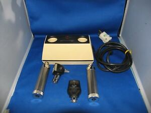 Welch Allyn Desk Charger 71110 With 25020 Otoscope 11720coaxialzophthalmoscope