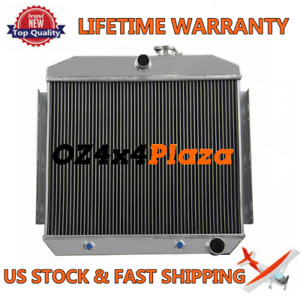 3 Row Aluminum Radiator For 1955 1957 Chevrolet Belair Del Ray L6 V8 Engines