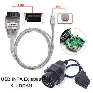 Usb 20pin Obd2 Ii Cable Lead Ediabas Inpa Gt1 Dis Sss Adapter Set For Bmw