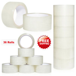 Heavyduty Scotch Moving Storage Packing Sealing Tape 36 Rolls Shipping Packaging