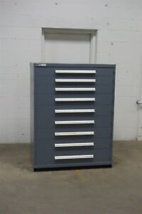 Used Vidmar 9 Drawer Cabinet Industrial Tool Storage 45 Wide 1256 Kennedy