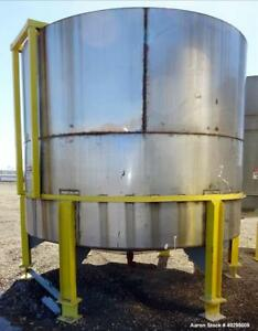 Used Mix Tank Approximate 5 000 Gallon Stainless Steel Vertical Approximate
