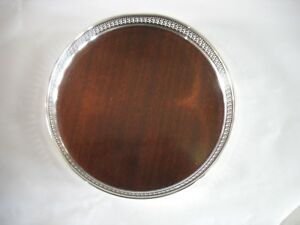 Vtg Revere Silver Company Sterling Silver Formica Serving Tray 7 1 4 Round