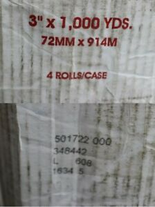 Case Of 4 Uline Machine Length Tape 1 7 Mil 3 X 1 000 Yds Clear
