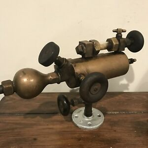 Steampunk Sculpture Unique Gauge Valves Lubricator Rustic Antique Lamp Part