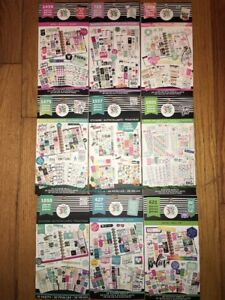 Lot Of 9 Create 365 Happy Planner Sticker Books Scrapbooking new