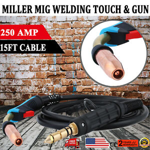 15 Feet Miller 169598 250 Amp Mig Welding Gun Torch Stinger M25 Welder Parts