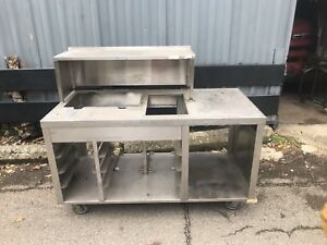 Stainless Steel Counter Table 142 Catering Buffet Food Truck Send Best Offer