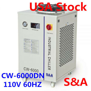 S a Cw 6000 Industrial Water Chiller For 100w Solid state Laser 22kw Cnc Spindle