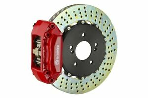 Brembo Gt Brake Kit Front 2 Pc Drilled 4 Piston Red A4 B5 96 01 A6 2 8 C5 98 04