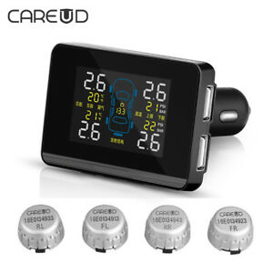Cigarette Lighter Wireless Auto Car Vehicle Tpms Tire Pressure Monitoring System