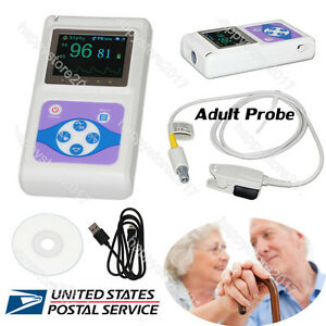 Usa Finger Pulse Oximeter Blood Oxygen Heart Rate Monitor adult Spo2 Probe pc Sw